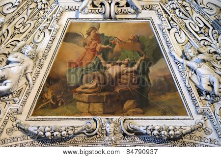 SALZBURG, AUSTRIA - DECEMBER 13: Fragment of the dome in the Chapel of Holy Cross, Salzburg Cathedral on December 13, 2014 in Salzburg, Austria.
