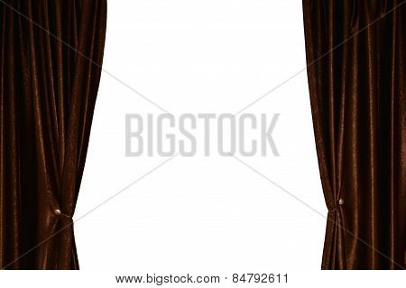 Window With Curtain And Drapery