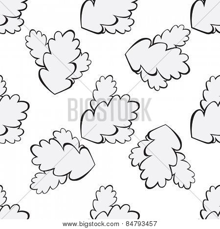 grey oak leaf seamless background Vector illustration