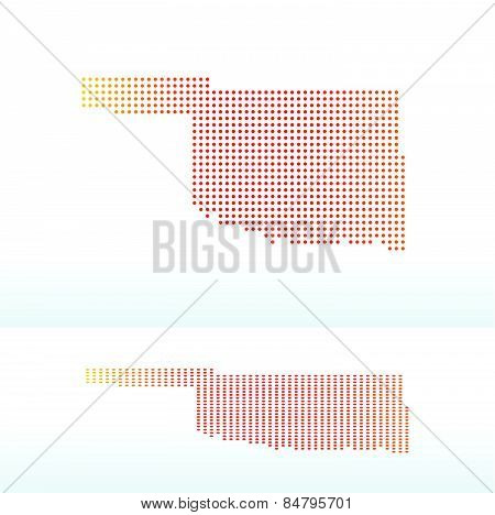 Map Of Usa Oklahoma State With Dot Pattern