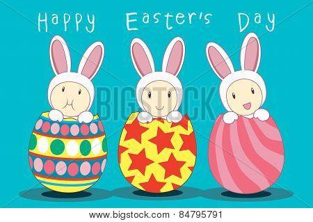 Trio Bunny Easter Egg