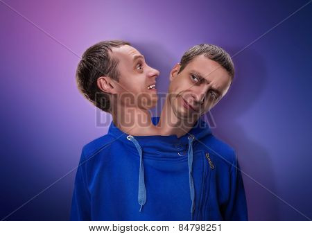 Man with two heads