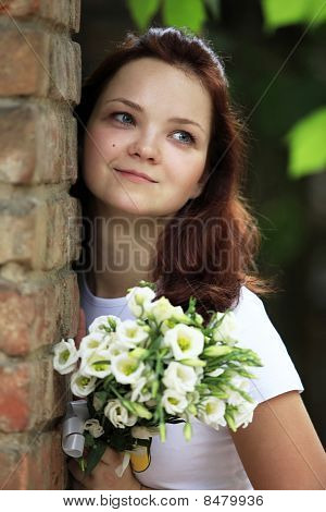 The Girl With A Bouquet