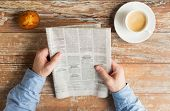 stock photo of newspaper  - business - JPG
