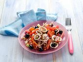 stock photo of squid  - squid salad - JPG