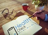 foto of check  - Health Check Diagnosis Medical Condition Analysis Concept - JPG