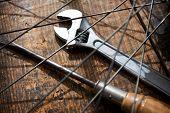 stock photo of driver  - Bicycle repair - JPG