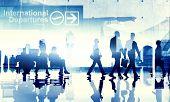 foto of terminator  - Business People Travel Departure Airport Passenger Terminal Concept - JPG
