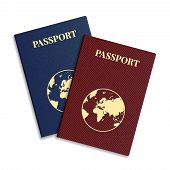 pic of passport template  - Vector international passport with globe on white background - JPG