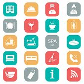 stock photo of porter  - Set of hotel icons - JPG