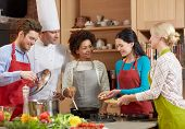 stock photo of food groups  - cooking class - JPG