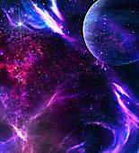 foto of cosmic  - Galaxy background with planet - JPG