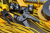 foto of stripper  - Pliers strippers with cables and electrical component kit - JPG