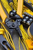 image of stripper  - Pliers strippers with cables and electrical component kit - JPG