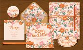 picture of thankful  - Set of wedding cards  - JPG