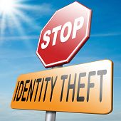 pic of theft  - stop identity theft by stealing online identification and stop internet crime or cyber crime - JPG