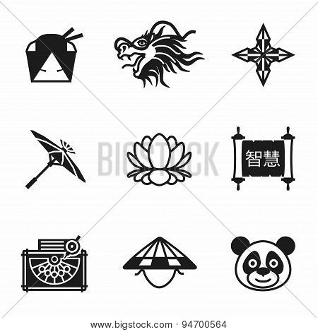 Vector China icon set