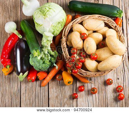 Fresh Bio Vegetables, Top View