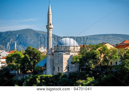 Mosque in Mostar city
