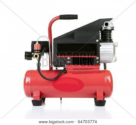 Air compressor pressure pump tool isolated