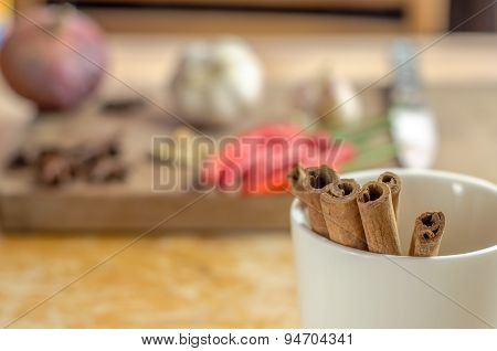 Cinnamon Sticks In a Cup