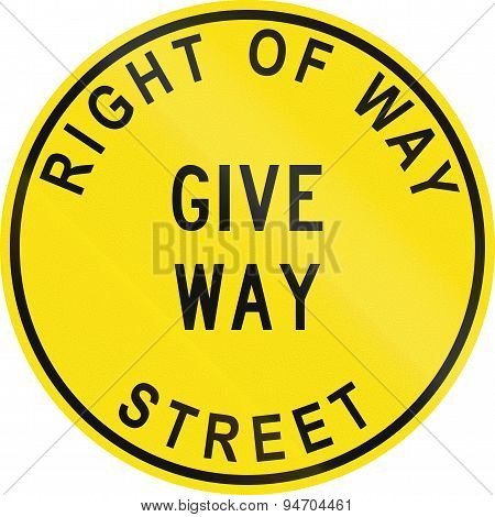 Old Version Of Give Way In Australia