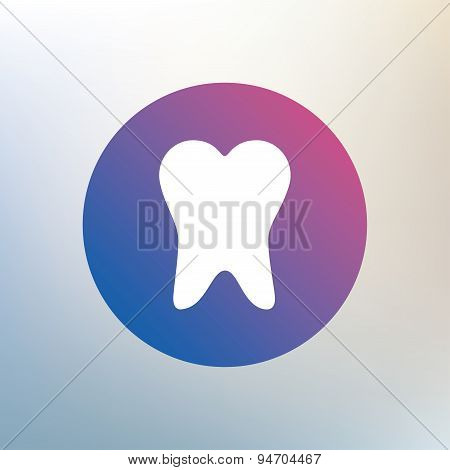 Tooth sign icon. Dental care symbol.