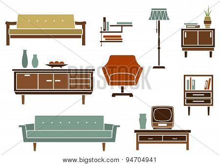 Flat interior furniture and accessories
