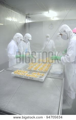 Ho Chi Minh City, Vietnam - October 3, 2011: Workers Are Working Hard In A Cold Environment In A Sea