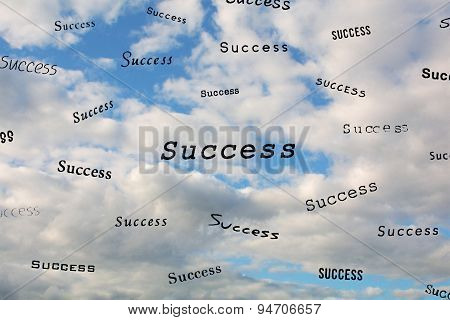 The Words Success In The Sky