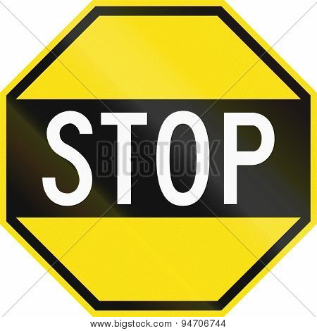 Old Version Of Stop In Australia