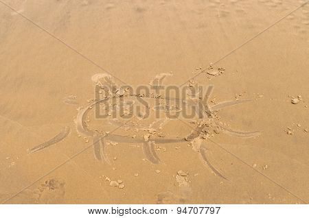 Sun Drawn In The Sand