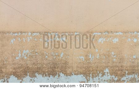 Water Level Stain Pattern After Flood On Wall House
