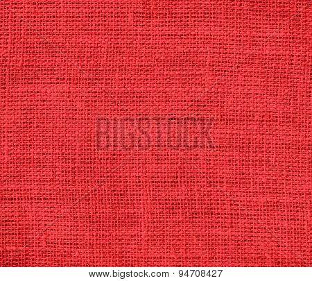 Deep carmine pink burlap texture background
