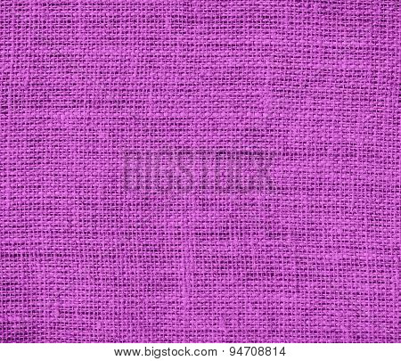 Deep fuchsia burlap texture background