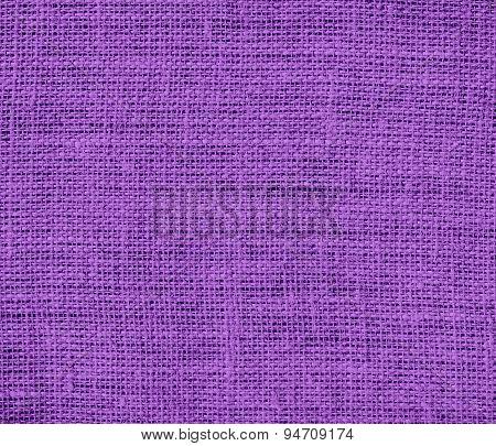 Deep lilac burlap texture background