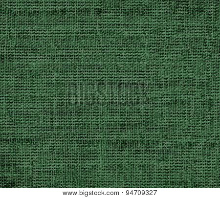 Deep moss green burlap texture background
