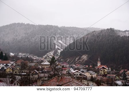 Winter View Of A Town