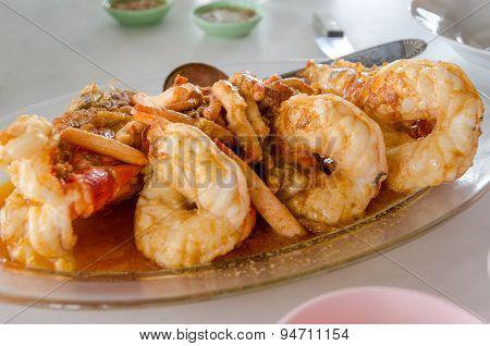 Grilled Giant Freshwater Prawn