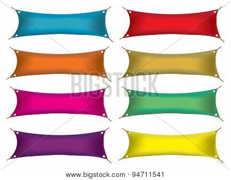 Blank Colorful Advertising Banners Vector Illustration