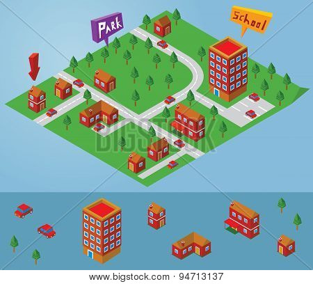 Isometric Small Map
