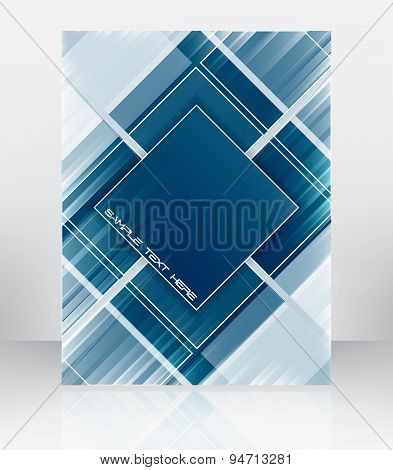 Abstract flyer or cover design, vector illustration
