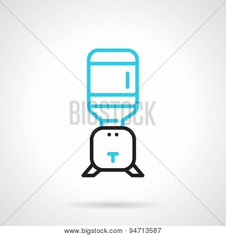 Flat line vector icon for home water cooler