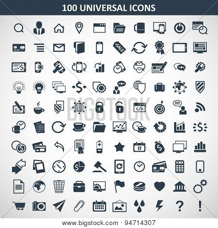 hundred media icons