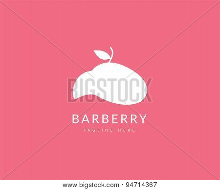 Abstract vector element. Barber shop logo template. Stock illustration for design