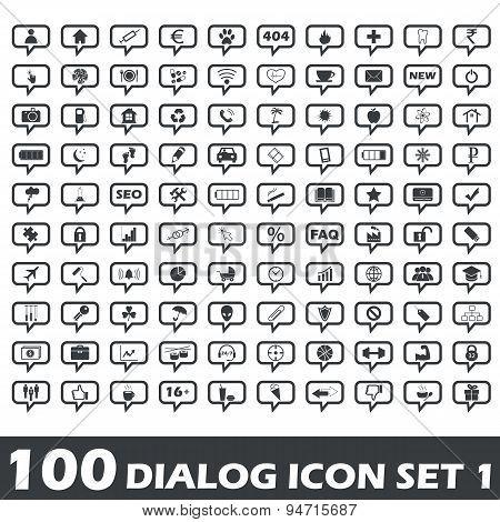 Dialog icon set 1