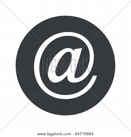 Monochrome round e-mail icon