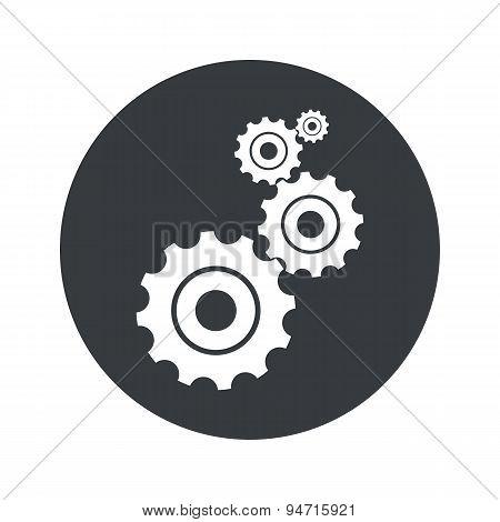 Monochrome round settings icon