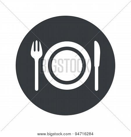Monochrome round dinner icon