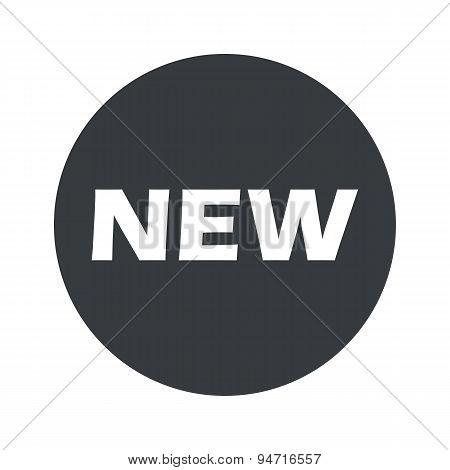 Monochrome round NEW icon